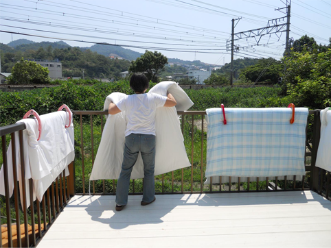Summer Japanese Futon And Comforter Airing